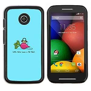Caucho caso de Shell duro de la cubierta de accesorios de protección BY RAYDREAMMM - Motorola Moto E - Divertido remolacha Grasa