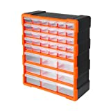 Tactix 320636 39 Drawer Cabinet, Black/Orange
