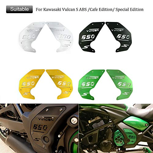 FATExpress Motorcycle CNC Aluminum Decoration Engine Side Cover Plate for 2015-2019 Kawasaki Vulcan S ABS VN EN 650 EN650 2016 2017 2018 15-19(Green) (Kawasaki Vulcan Side Covers)
