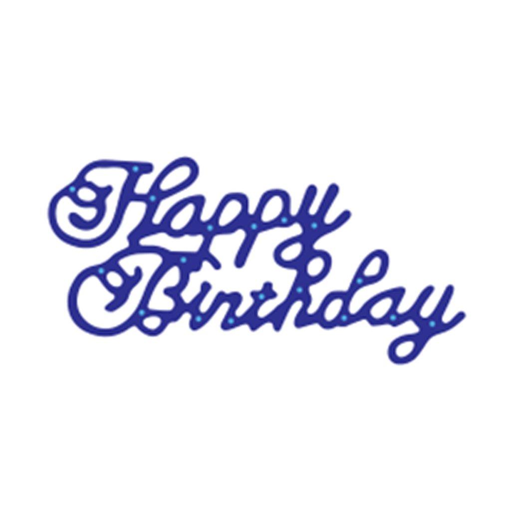 Aulley Happy Birthday Cutting Dies Stencils Scrapbook Album Embossing Card DIY Craft Decorative