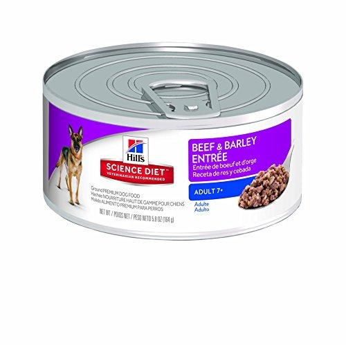 Hill's Science Diet Senior Wet Dog Food, Adult 7+ Beef & Barley Entrée Canned Dog Food, 5.8 oz, 24 Pack