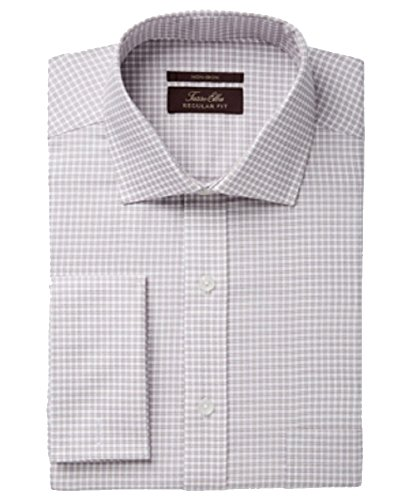 Herringbone Classic Dress - Tasso Elba Men's Classic Fit Non-Iron Herringbone French Cuff Dress Shirt (Tan, 16 3233)