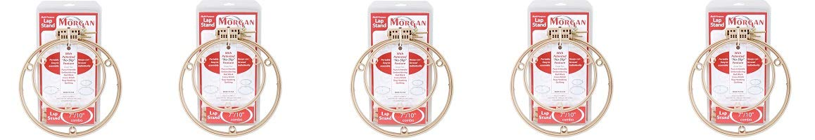 Morgan 7-Inch and 10-Inch Lap Stand Combo Hoops (5-(Pack)) by Morgan