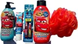 Bubble Bath Set Disney Pixar Cars .. 20 Fl Oz Disney Pixar Cars Bubble Bath + 14 Fl Oz Disney Pixar Cars All-in-one Shower Gel + Disney Cars Kids Tooth Paste + Disney Cars Value Pack Twin Tooth Brush + Jumbo Bath Sponge (A Set of 5)