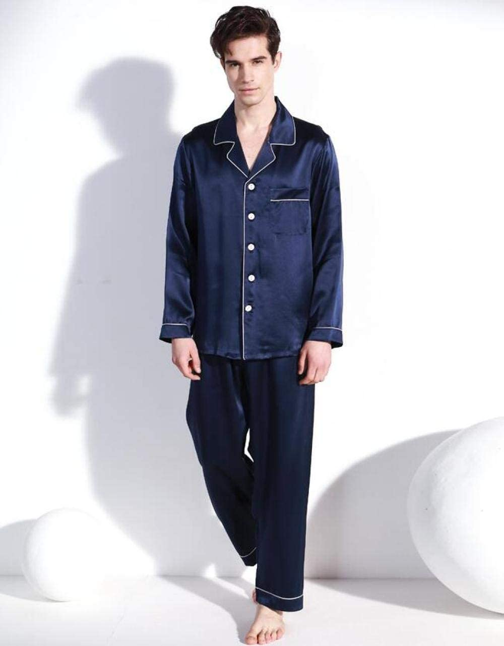 Zara Lew Pure Silk - Pijama para Hombre, Marine, XX-Large ...