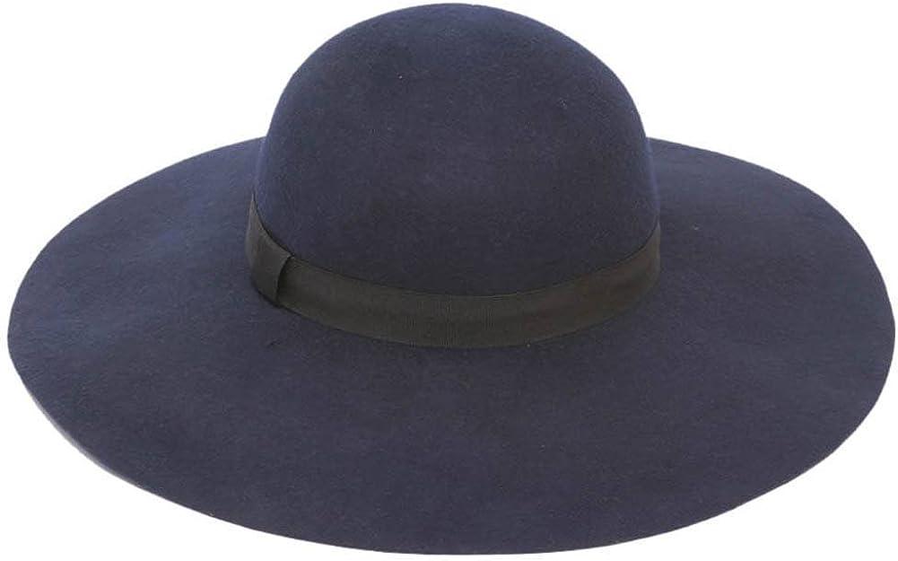 Wool Felt Wide Brim Sun Hat...