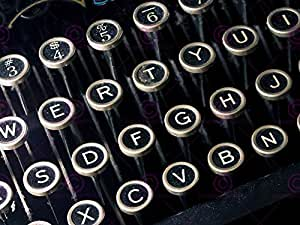 PHOTOGRAPH RETRO STYLE KEYBOARD PICTURE ART PRINT POSTER MP5507A