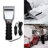 CALAP STORE 12V Car Auto Electric Heated Windshield Ice Snow Scraper Cleaning Shovel Winter