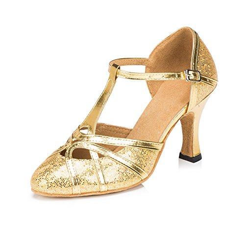 Plateado Plata Danza Misu Dorado Para Zapatillas De Mujer wE7YqXYv
