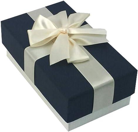 Phononey 1x Caja de regalo rectangular con lazos Embalaje de cartón de lujo Caja de joyería Grande con tapa Lazo para aniversarios bodas cumpleaños15,5*9,6cm Cubierta Negra + Fondo Blanco: Amazon.es: Hogar
