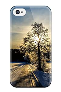 Malailne YeDHU8113qWKtj Case Cover Skin For Iphone 4/4s (winter Roads)