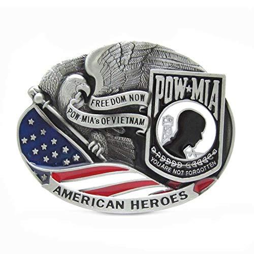 Buckes - American Heroes Freedom Now Pow-Mia's of Vietnam Belt Buckle ()