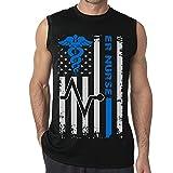 #8: SHENQINGWENEN Men's Emergency Room Nurse American Flag Yoga Tank Top T-Shirt Muscle Tank Top Shirt