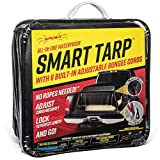 SPIDER Smart TARP Waterproof Heavy Duty Truck Tarp with Patented Adjustable Hooks, Cargo Net Alternative, for Long Bed Pickups : 10.5' x 7.5' (6 Built-in Bungee Cords)