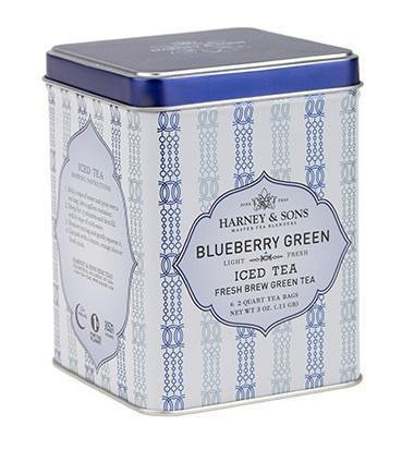 Harney & Sons BLUEBERRY GREEN Iced Tea 6 - 2 Qt Tea Bags