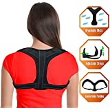 POSTURE CORRECTOR BRACE - Back Support to Relieve Back Pain - Comfortable Adjustable Posture Brace that Helps with Spine Alignment - Eliminates Slouching – 1 Size Fits Most
