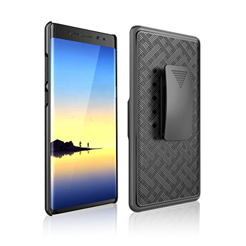 Samsung Galaxy Note 8 Case, Galaxy Note 8 Holster Armor Slim Shell Protective Case Defender Swivel Belt Clip [Kickstand] for Note8 by Zase
