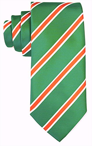 Leprechaun Tie - Green Orange Mens Irish Leprechaun Tie | Neckties by Scott Allan Collection