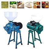 Electric Grain Grinder Dry Herb Mill Mill Powder Machine Corn Grain Coffee Wheat Flour Crusher Machine (Blue)