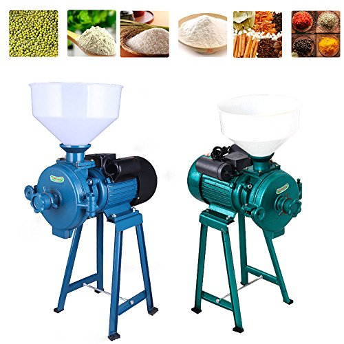 Electric Grain Grinder Dry Herb Mill Mill Powder Machine Corn Grain Coffee Wheat Flour Crusher Machine (Green)