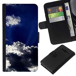 Leather Etui en cuir || Samsung Galaxy Core Prime || Sun Nubes Dios Inspiring Cielo Verano @XPTECH