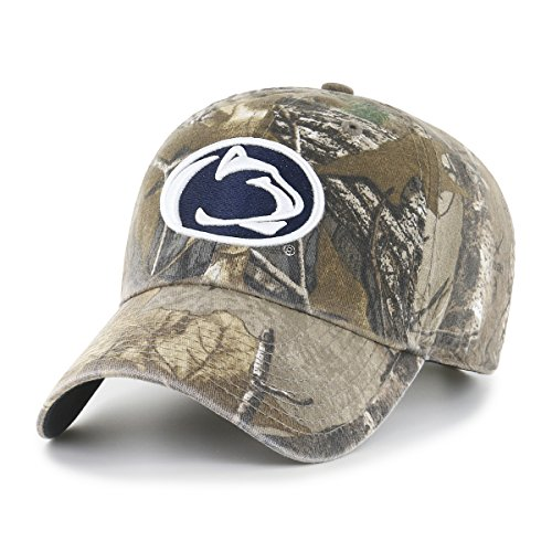 NCAA Penn State Nittany Lions Realtree OTS Challenger Adjustable Hat, Realtree Camo, One Size