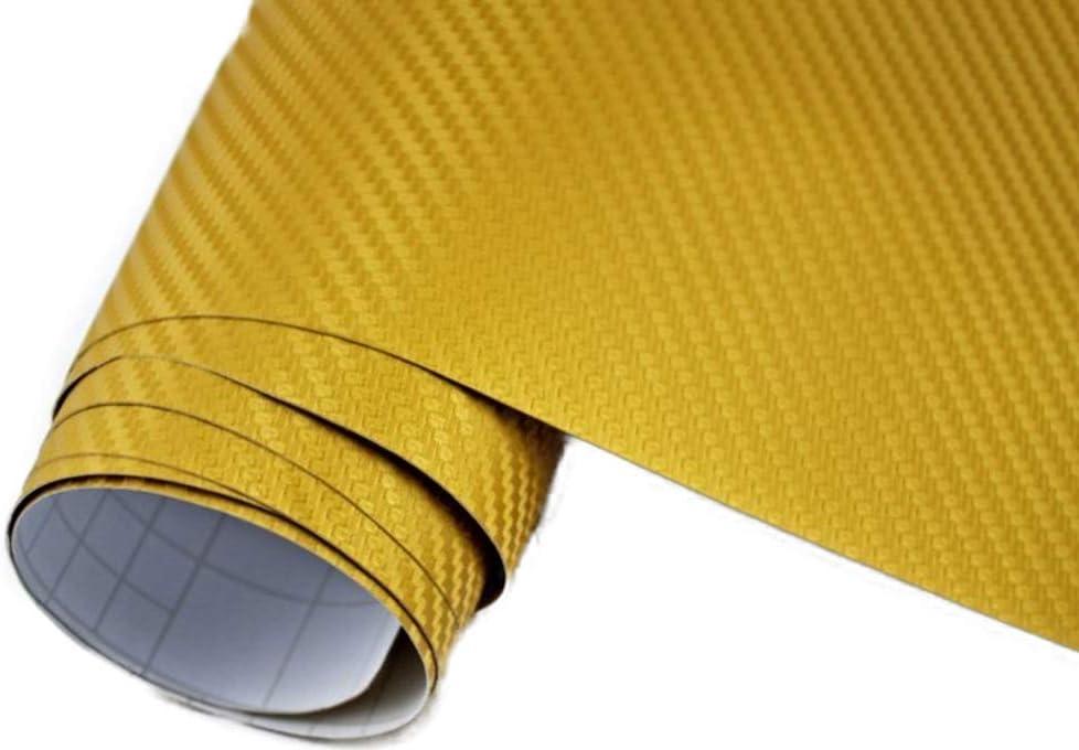 Neoxxim 24 22 M2 Premium Auto Folie 3d Carbon Folie Gold 30 X 150 Cm Blasenfrei Mit Luftkanälen Ca 0 16mm Dick Küche Haushalt