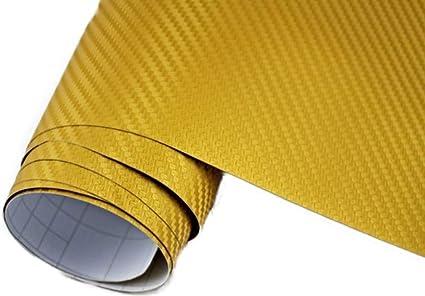 Neoxxim 5 M2 Auto Folie Carbon Folie 3d Carbonfolie Gold 200 X 150 Cm Blasenfrei Klebefolie Dekor Auto