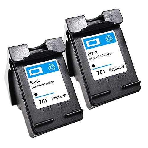 HP 701 CC635A Ink Cartridges use with HP Fax 640 650 2140 (2 Black) (Compatible Black Fax Cartridge)