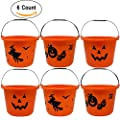 Gift Boutique Halloween Trick or Treat Plastic Bucket, Pack of 6 Pails