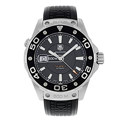 TAG Heuer Men's WAJ2110.FT6015 Aquaracer Calibre 5 Automatic 500M Black Rubber Watch
