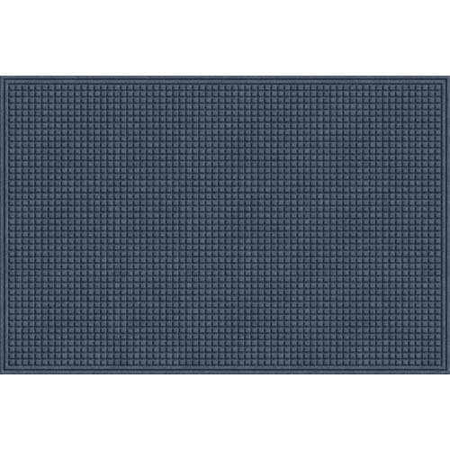 EcoMat Squares Entrance Door Mat, 4-Feet by 6-Feet, Slate Gray