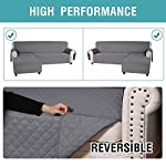 L Shaped Sofa Covers Corner Sofa Slipcover Quilted Couch Cover for Sectional Sofa 3 Seater and Chaise Furniture…