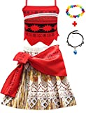 JYH Moana Girl Costume Adventure Outfit Princess Party Dress up Skirt Sets Kids Girls