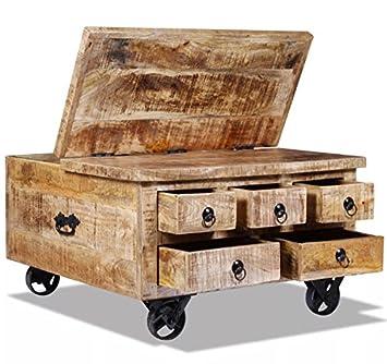 Handmade Coffee Table Vintage Industrial Furniture Rustic Solid
