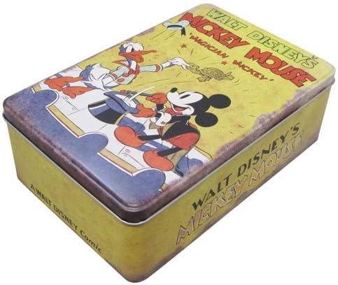 Vintage Disney Mickey Mouse lata con bisagras caja 20 x 13 cm Almacenamiento Dormitorio Infantil – amarillo: Amazon.es: Hogar