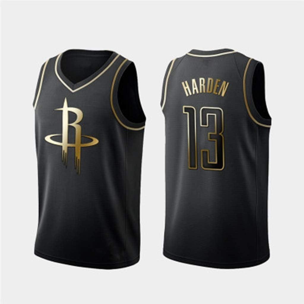 James Harden #13 Gold Edition Jersey Basketball Wear Black Sleeveless T-Shirt Mens Sportswear Training Fitness Wear Fans Gifts