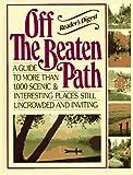 Off the Beaten Path, Reader's Digest Editors, 0895772531