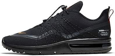 Nike Air Max Sequent 4 Utility, Men's Shoes, Black (Black/Total Orange-Mtlc Dark Grey), 8.5 UK (43 EU)