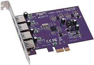 SONNET TECHNOLOGIES Allegro - Tarjeta de memoria PC (4 puertos USB 3.0)
