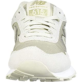 New Balance Women's 515 V1 Sneaker, Oyster/Gold Metallic, 6 W US