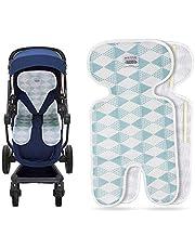 Luchild Sitzauflage Kinderwagen Sommer Atmungsaktive Sitzeinlage für Buggy-thin