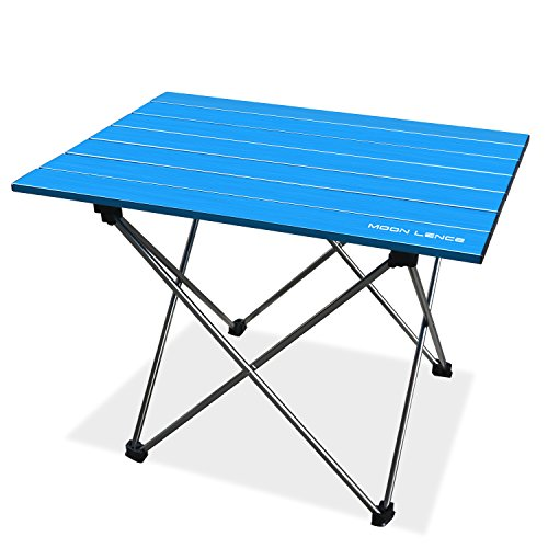 Moon lence sp6015 us02bl moon lence portable lightweight folding camping hiking picnic table for - Lightweight camping tables ...