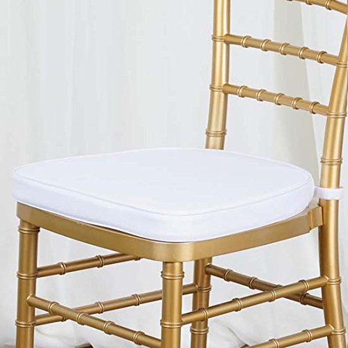 Efavormart 10PCS White Chiavari Chair Cushion for Wood Resin Chiavari Chairs Party Event Decoration - 2
