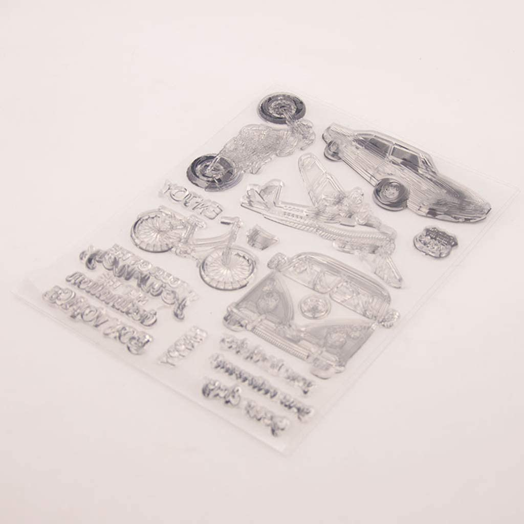 blingdeals Transportation Silicone Clear Seal Stamp DIY Scrapbooking Embossing Photo Album Decorative Paper Card Craft Art Handmade Gift