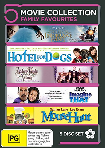 Addams Family Values / Hotel For Dogs / Mousehunt / ... | 5 Discs | NON-USA Format | PAL | Region 4 Import - Australia