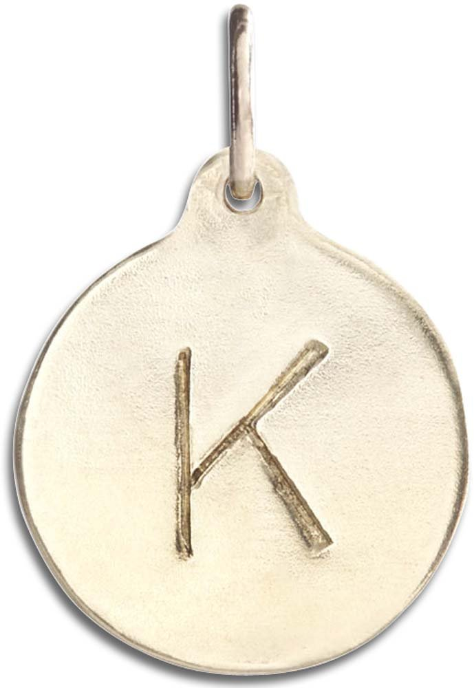 Helen Ficalora ''K'' Alphabet Charm Yellow Gold