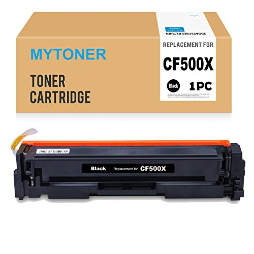 (MYTONER Compatible Replacement for HP 202X/CF500X Black Toner Cartridge for HP Color LaserJet Pro MFP M281fdw, M281cdw M254dw M280 Series Printer)