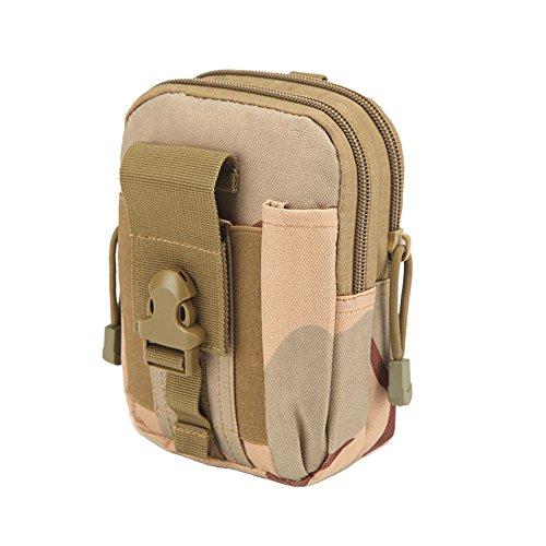 zeato Tactical Bolsa Edc Utility Gadget para cinturón porta riñonera con teléfono móvil iPhone 6y 6Plus 7/7Plus Samsung Galaxy S8S7S6LG HTC y más, Hombre, Army Green Desert Camouflage