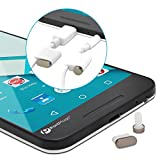 PortPlugs - USB C Anti Dust Plug Set - Includes Convenient Cord Holders & Free Port Cleaning Brush - Aluminum Finish Port Covers for Samsung, LG, Pixel & More (Gun Metal)